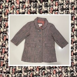 Pumpkin Patch tweed jacket lined pockets buttons